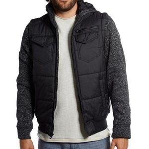 Distortions Puffer Vest Hoodie size medium
